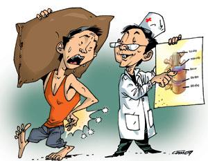 Triệu chứng thoát vị đĩa đệm cột sống thắt lưng