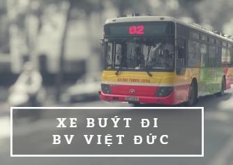 xe buýt đi qua bệnh viện Việt Đức