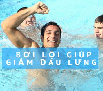 bơi lội sẽ giúp giảm đau lưng