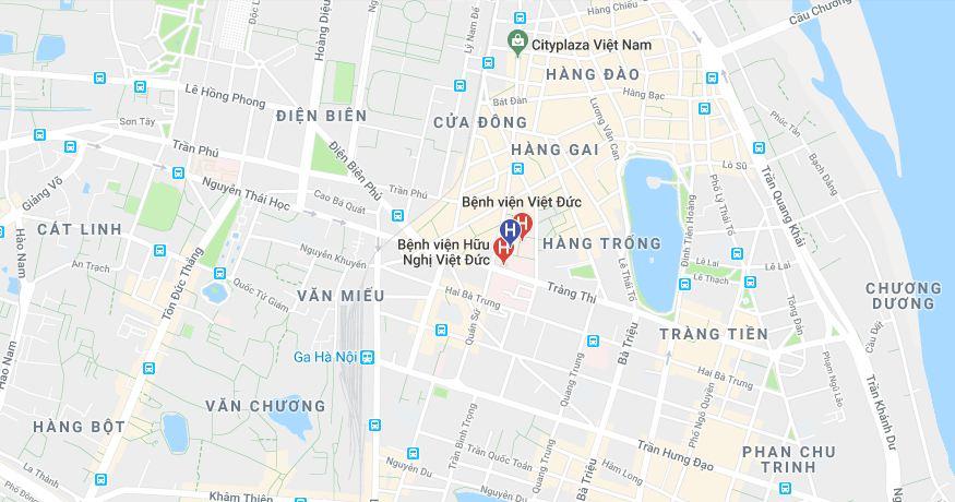 Bệnh viện Việt Đức google map