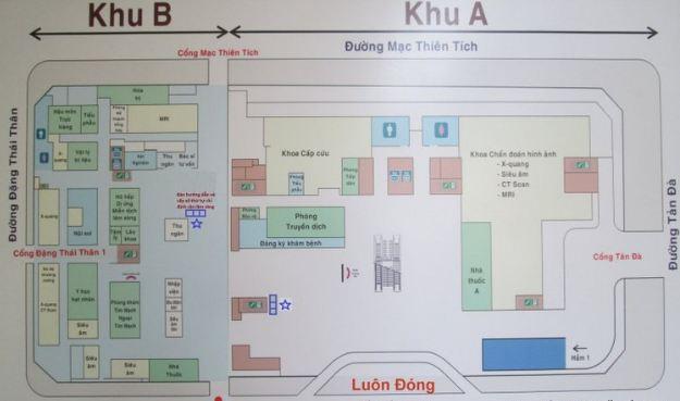 Sơ đồ Bệnh viện Đại học Y Dược TPHCM