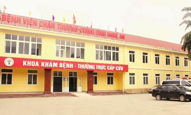 bệnh viện chấn thương chỉnh hình tỉnh Nghệ An
